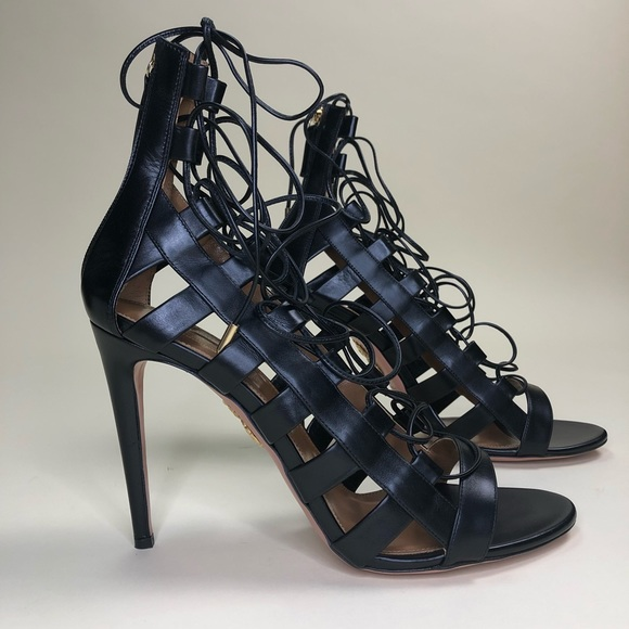d4ee0f9c2500 Aquazzura Amazon Lace-up Sandals 42 BNIB